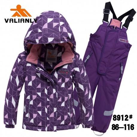 Violetinis 2 dalių žieminis VALIANLY kombinezonas mergaitei 8912