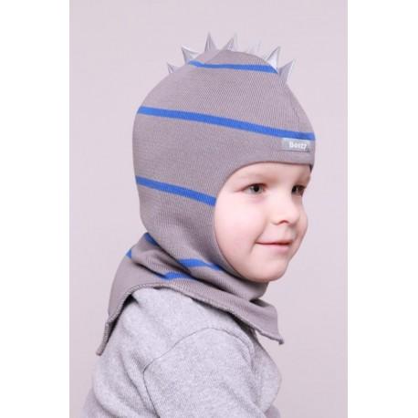 """Demisezoninė dryžuota kepurė-šalmas berniukui """"Beezy"""", 1715-25"""