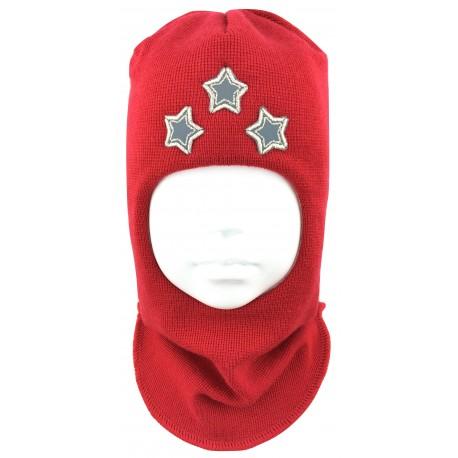 """Raudona kepurė-šalmas su vilna """"Žvaigždės"""""""