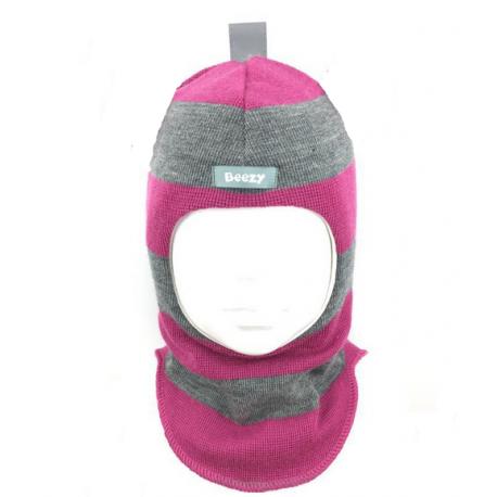 Spalvinga, dryžuota kepurė-šalmas su vilna mergaitei 1405/34