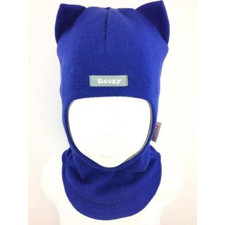 "Demisezoninė mėlyna kepurė-šalmas berniukui ""Beezy"", 1750-13"