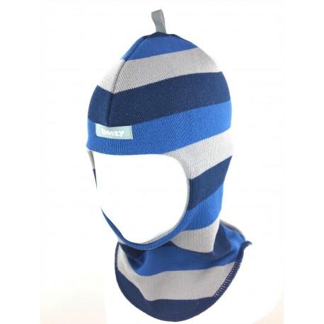 """Demisezoninė dryžuota kepurė-šalmas berniukui """"Beezy"""", 1705-40"""