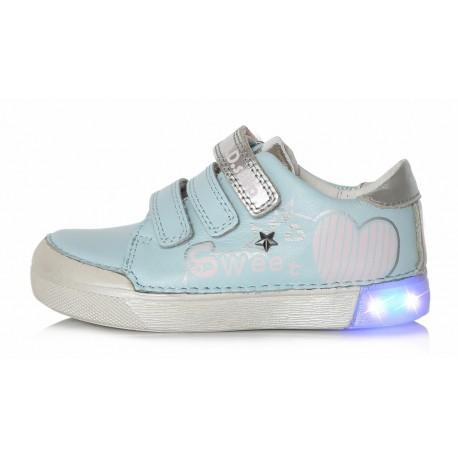 Šviesiai mėlyni LED batai 31-36 d. 068691AL