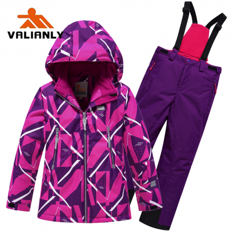 Violetinis 2 dalių žieminis VALIANLY kombinezonas mergaitei 140-170
