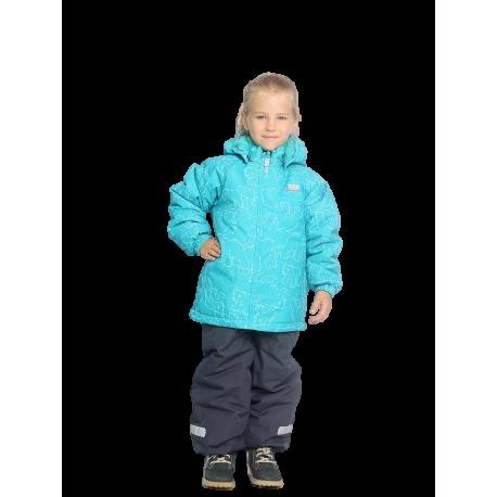 Turkio spalvos 2 dalių žieminis VALIANLY kombinezonas mergaitei 86-116