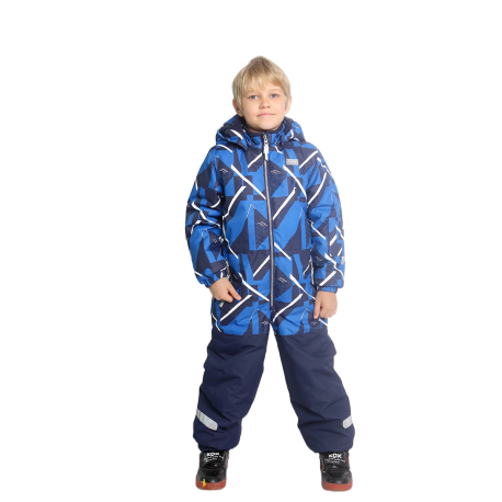 Vientisas mėlynas žieminis VALIANLY kombinezonas 98-128