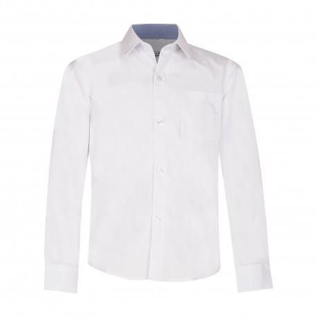 Balti marškiniai ilgomis rankovėmis NORMAL 170-194 d.