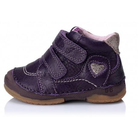 Violetiniai batai mergaitėms 19-24 d.