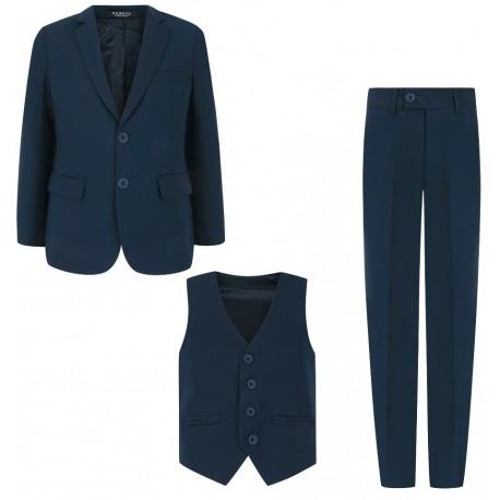 158-188 cm tamsiai mėlynas kostiumas / mokyklinė uniforma vaikinui