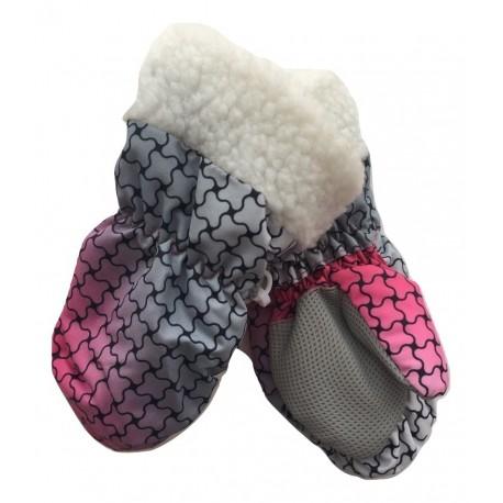 Rožinės kumštinės sniego pirštinės 6-18 mėn. MNPIR10053