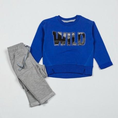 Šiltas komplektukas: džemperis ir kelnės berniukui FLAMINGO BKMP10050