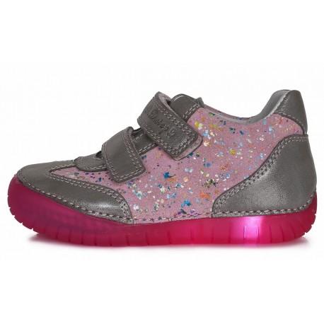 Rožiniai LED batai 31-36 d. 0504AL