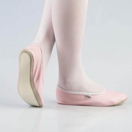 35-40 d. Rožiniai šokių - gimnastikos bateliai (češkės)