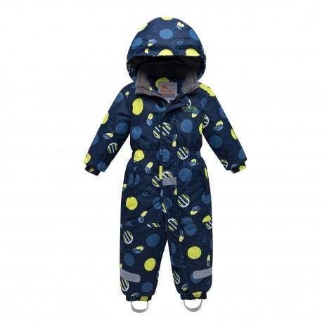 Vientisas tamsiai mėlynas žieminis VALIANLY kombinezonas berniukui 8905