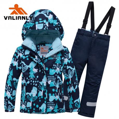 Mėlynas 2 dalių žieminis VALIANLY kombinezonas berniukui 8928/a