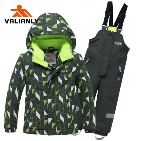 Žalias 2 dalių žieminis VALIANLY kombinezonas berniukui 8911/a