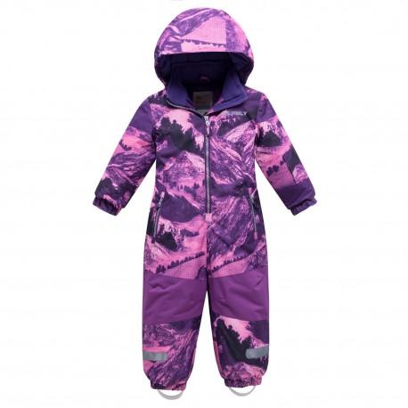 Vientisas violetinis žieminis VALIANLY kombinezonas mergaitei 8908