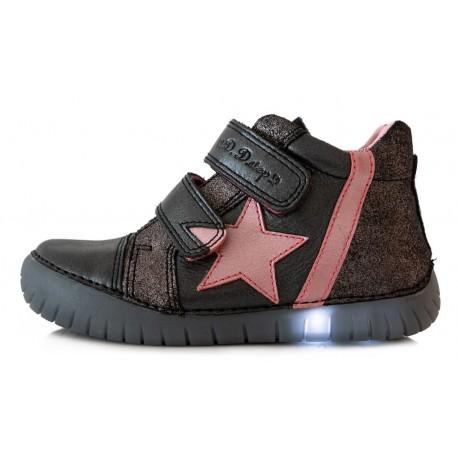 Juodi LED batai 31-36 d. 0507DL