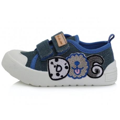 Mėlyni canvas batai 26-31 d. CSB137AM